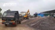 Xử lý 4 hộ sản xuất, kinh doanh gạch táp lô vi phạm an toàn giao thông