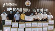 Hội Doanh nhân trẻ Nghệ An ủng hộ Đà Nẵng khẩu trang, nước sát khuẩn phòng chống dịch Covid-19