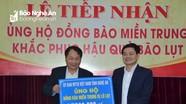 Ủy ban MTTQ Việt Nam tỉnh Nghệ An tiếp nhận gần 600 triệu đồng ủng hộ đồng bào miền Trung