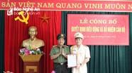Bí thư Đoàn Thanh niên Công an Nghệ An giữ chức Phó trưởng Công an Tân Kỳ