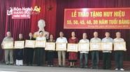 Lễ trao Huy hiệu Đảng tại TP. Vinh và TX. Thái Hòa