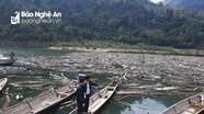 UBND tỉnh Nghệ An chỉ đạo xử lý rác trên lòng hồ Thủy điện Bản Vẽ