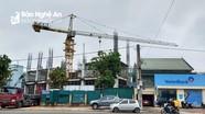 Thành phố Vinh đình chỉ hoạt động cần trục tháp của Công ty CP Tập đoàn Hoành Sơn