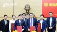 Nghệ An ký kết hợp tác với Viện Hàn lâm Khoa học và Công nghệ Việt Nam