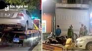 Thêm nhiều tài xế bị phạt vì dừng, đỗ xe sai quy định tại TP.Vinh