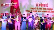 Chính thức thành lập xã mới trên cơ sở sáp nhập 3 xã tại huyện Nghĩa Đàn