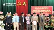Công bố nghị quyết thành lập xã, thị trấn của Ban Thường vụ Quốc hội tại huyện Nam Đàn