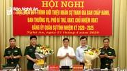 Giới thiệu nhân sự cho Đại hội Đảng bộ quân sự tỉnh Nghệ An nhiệm kỳ 2020 - 2025