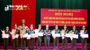 Bộ CHQS tỉnh Nghệ An khen thưởng các điển hình trong học tập và làm theo Bác