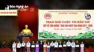 Báo Nghệ An đạt giải cao tại cuộc thi báo chí viết về tấm gương 'Dân vận khéo' giai đoạn 2017-2020