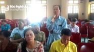 Đại biểu HĐND tỉnh tiếp xúc với cử tri huyện Quỳnh Lưu