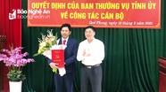 Trao quyết định điều động, bổ nhiệm Phó Bí thư Huyện ủy Quế Phong