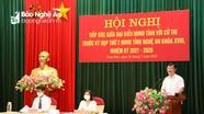 Chủ tịch UBND tỉnh Nguyễn Đức Trung tiếp xúc cử tri huyện Nam Đàn