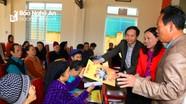 Báo Nghệ An, BIDV chi nhánh Nghệ An trao quà Tết hộ nghèo ở Hưng Nguyên