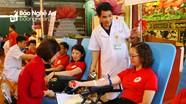 Hàng trăm người dân Nghệ An tham gia hiến máu nhân đạo đầu năm mới