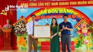 Trường Mầm non Hưng Phú (Hưng Nguyên) đón Bằng đạt chuẩn Quốc gia mức độ 2