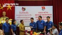 Đoàn công tác tuổi trẻ tỉnh Xiêng Khoảng (Lào) thăm và làm việc tại Nghệ An