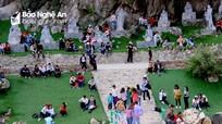 Hàng ngàn người đổ về ngôi chùa đẹp nhất Diễn Châu