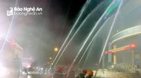 Hàng trăm người tham gia dập lửa đám cháy giả định tại chợ Vinh