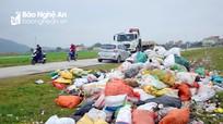 Nhiều bãi rác 'siêu to' xuất hiện sau Tết ở Nghệ An