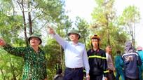 Phó Chủ tịch UBND tỉnh chỉ đạo dập tắt cháy rừng tại Diễn Châu trong chiều 10/7