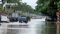 Nhiều tuyến đường tại TP.Vinh bị ngập sau mưa lớn