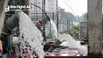 Tăng cường máy bơm tiêu thoát nước chợ Vinh