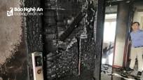 Cận cảnh hiện trường sau vụ cháy tại khách sạn Vinh Plaza