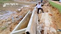 Đường giao thông, mương thủy lợi ở Thanh Chương tan hoang sau trận lụt lịch sử