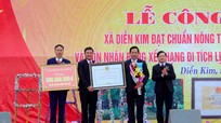 Xã Diễn Kim (Diễn Châu) đón Bằng công nhận đạt chuẩn Nông thôn mới