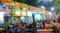 Đầu mùa nắng, quán bia hơi đua nhau chiếm vỉa hè thành phố Vinh