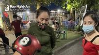 Xử phạt các quán bia tại hồ Goong ở TP. Vinh, do lấn chiếm vỉa hè