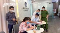 TP.Vinh: Thêm một spa bị phạt do không chấp hành lệnh đóng cửa phòng dịch