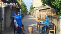 Phong tỏa 12 hộ dân phường Vinh Tân (TP.Vinh) liên quan đến ca nhiễm Covid - 19 mới