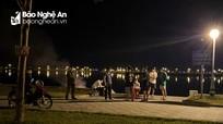 TP Vinh xử phạt 5 thanh niên tụ tập ở hồ điều hòa ăn uống, hóng mát giữa đêm khuya