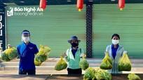 25 đội Shipper áo xanh vận chuyển thực phẩm miễn phí cho người dân TP. Vinh