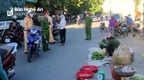 TP. Vinh: Xuất hiện tình trạng bán hàng tự phát tại các chợ chưa được mở cửa