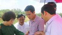 Tập đoàn TH khảo sát xây dựng trang trại trồng dược liệu và cây ăn quả ở Đô Lương