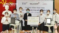 Tập đoàn TH và Ngân hàng TMCP Bắc Á tặng máy thở cho bệnh viện tại Nghệ An