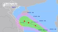 Nghệ An ra công điện ứng phó với áp thấp nhiệt đới