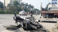 Thiếu niên 16 tuổi bị thương sau cú va chạm giữa xe máy và xe taxi