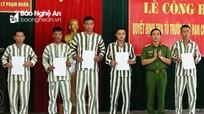 5 phạm nhân được tha tù trước thời hạn có điều kiện