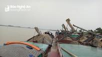Thu giữ hơn 120m3 cát khai thác trái phép trên sông Lam