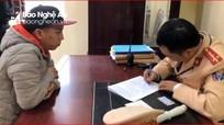 Công an Nghệ An phát hiện lái xe dương tính với ma túy