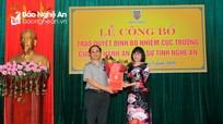 Trao quyết định bổ nhiệm Cục trưởng Cục Thi hành án dân sự tỉnh Nghệ An