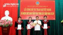 Chủ tịch nước bổ nhiệm 6 Thẩm phán ở Nghệ An