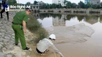 Phát hiện Công ty CP cấp nước Nghệ An xả bùn thải ra hồ điều hòa Cửa Nam