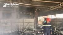 Nghệ An: Cháy cửa hàng tạp hóa lan vào nhà 3 tầng, ước thiệt hại hơn 1 tỷ đồng