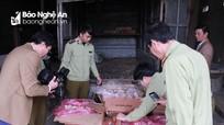 Chặn đứng vụ vận chuyển 288 kg gà thịt không đầu, không rõ xuất xứ