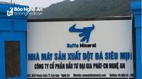 Nghệ An xử phạt Công ty CP Đầu tư Đại Gia Phát 300 triệu đồng, đình chỉ hoạt động nhà máy 6 tháng